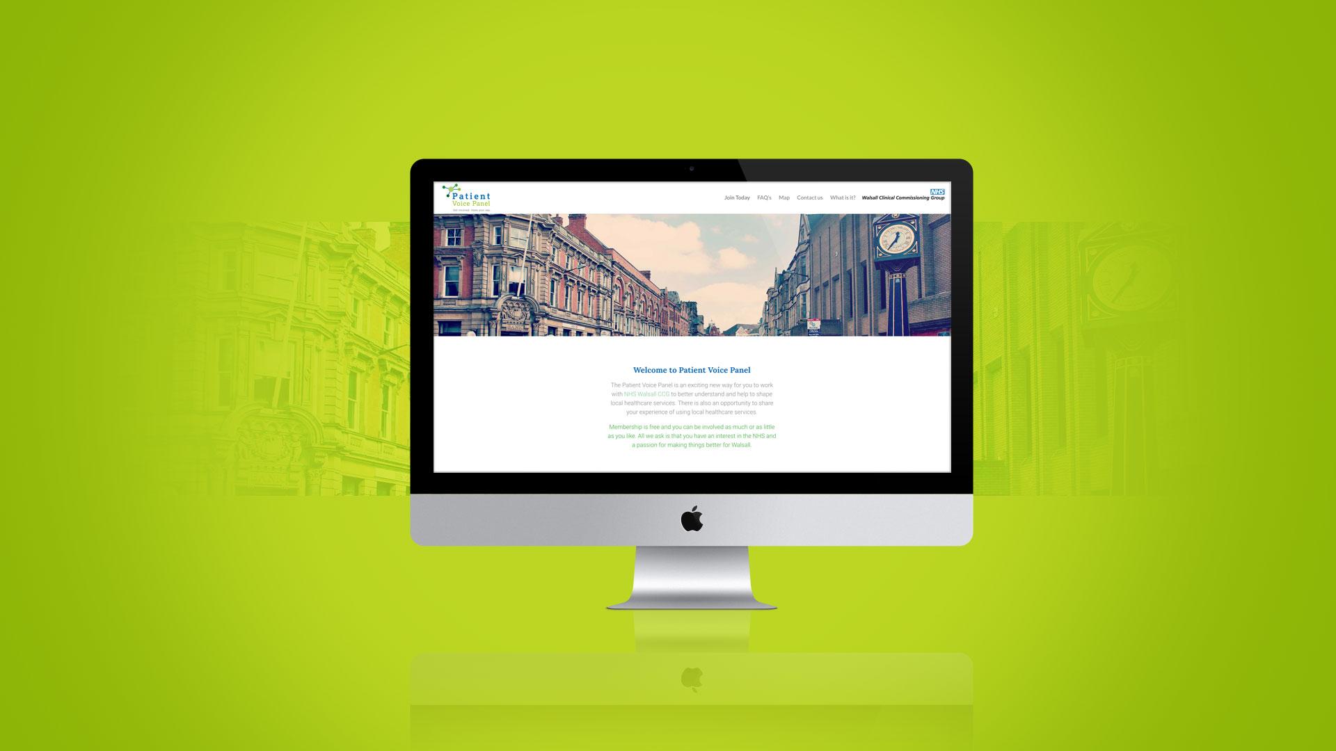 Patient Voice Panel Website Design