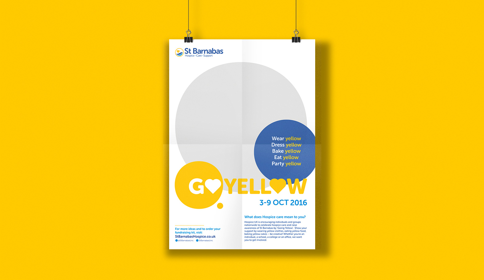 Go Yellow poster design