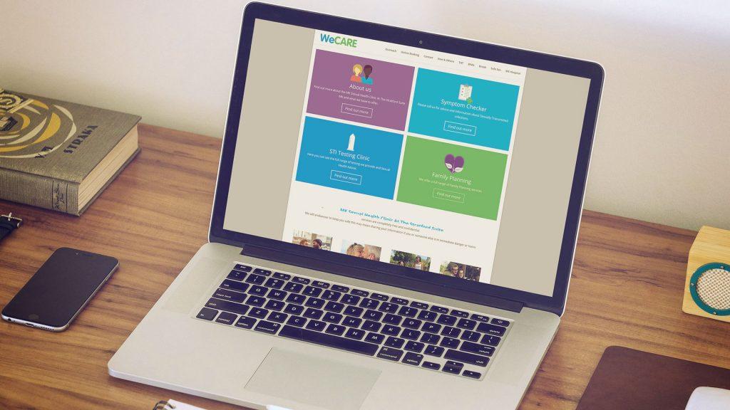 We Care Milton Keynes website Mock up