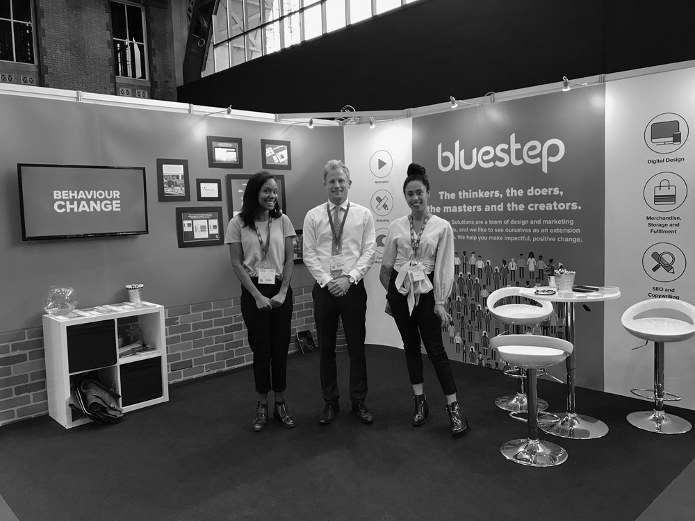 An image showing the staff from Bluestep at the NHS Health & Care Innovation Expo 2017