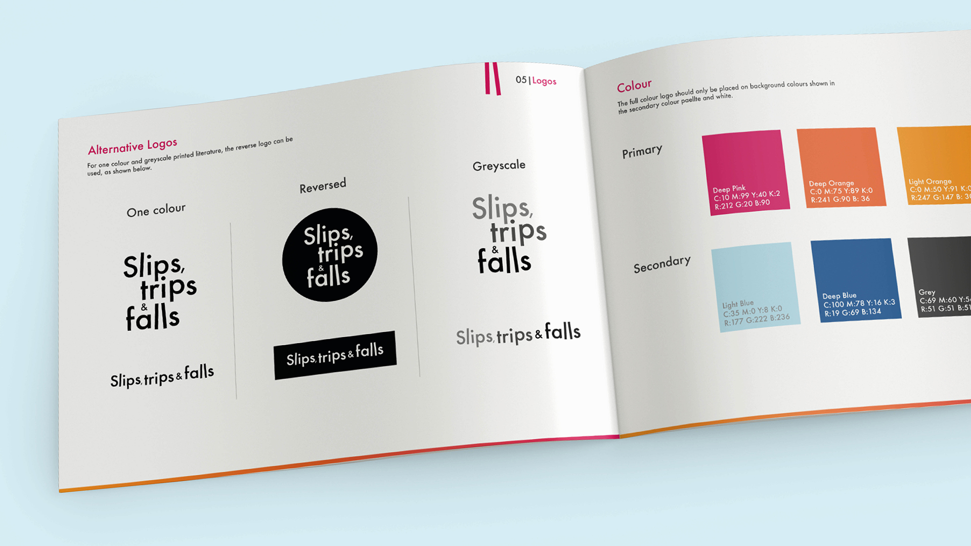 Slips, Trips and Falls Brand Guidelines