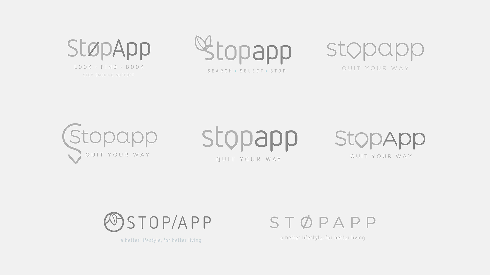 Stopapp Logos