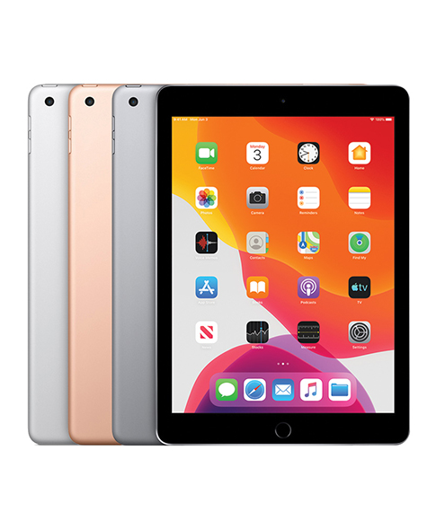 ipad 5 shown in black, silver, grey, rose gold