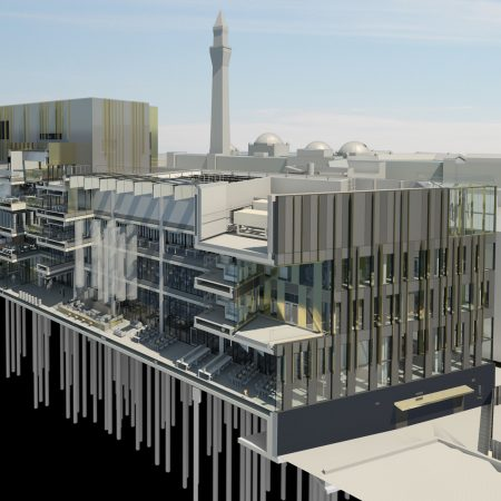 University of Birmingham Library Concept BIM model 3d Visualisation