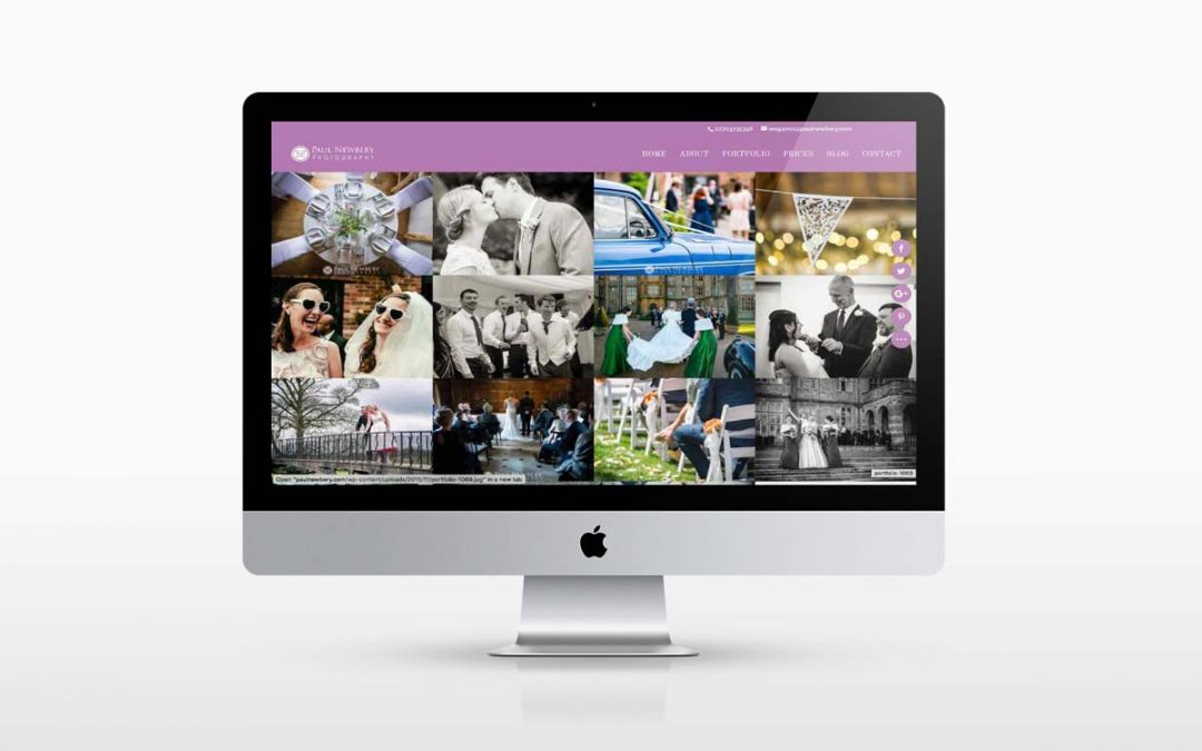 New Wedding Photography Website design
