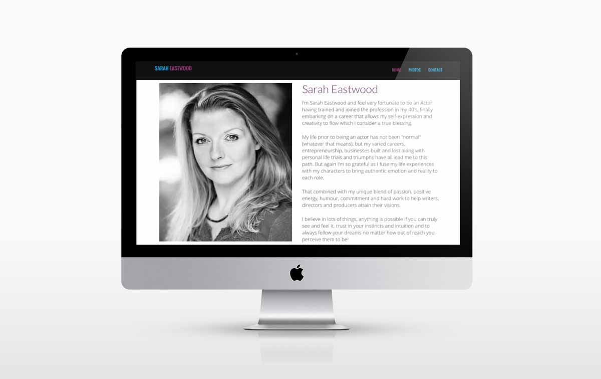 new web design for Sarah Eastwood