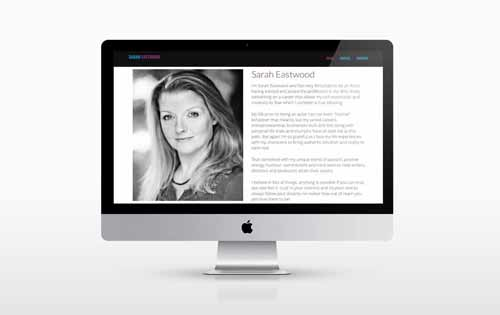 An Actresses one page website design.