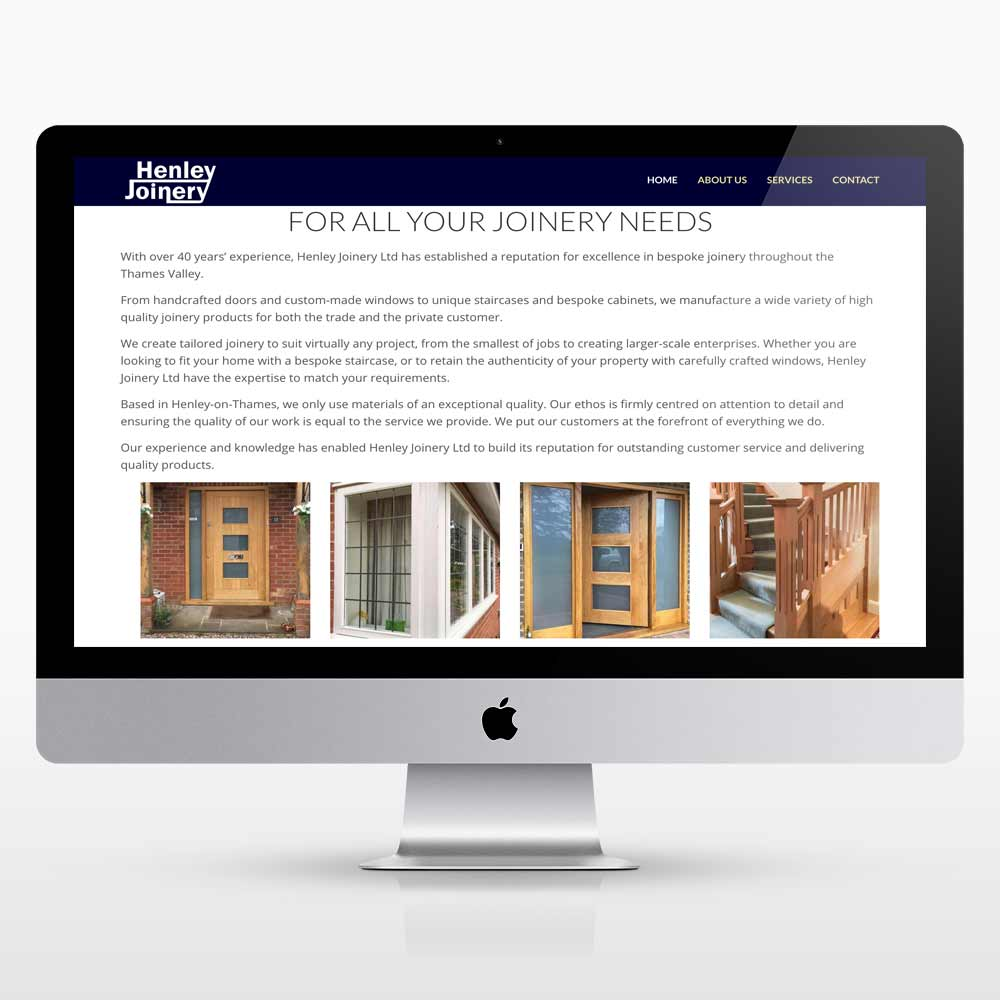 New bootstrap website design for Henley Joinery