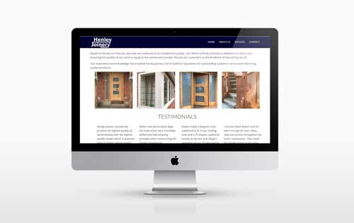 Henley Joinery Website Design