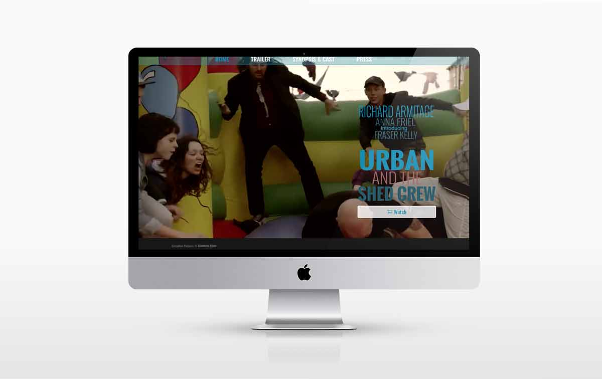A new website designed for Blenheim Films for the film Urban and the Shed Crew