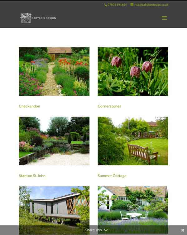 Website designer Oxfordshire Photo iPad