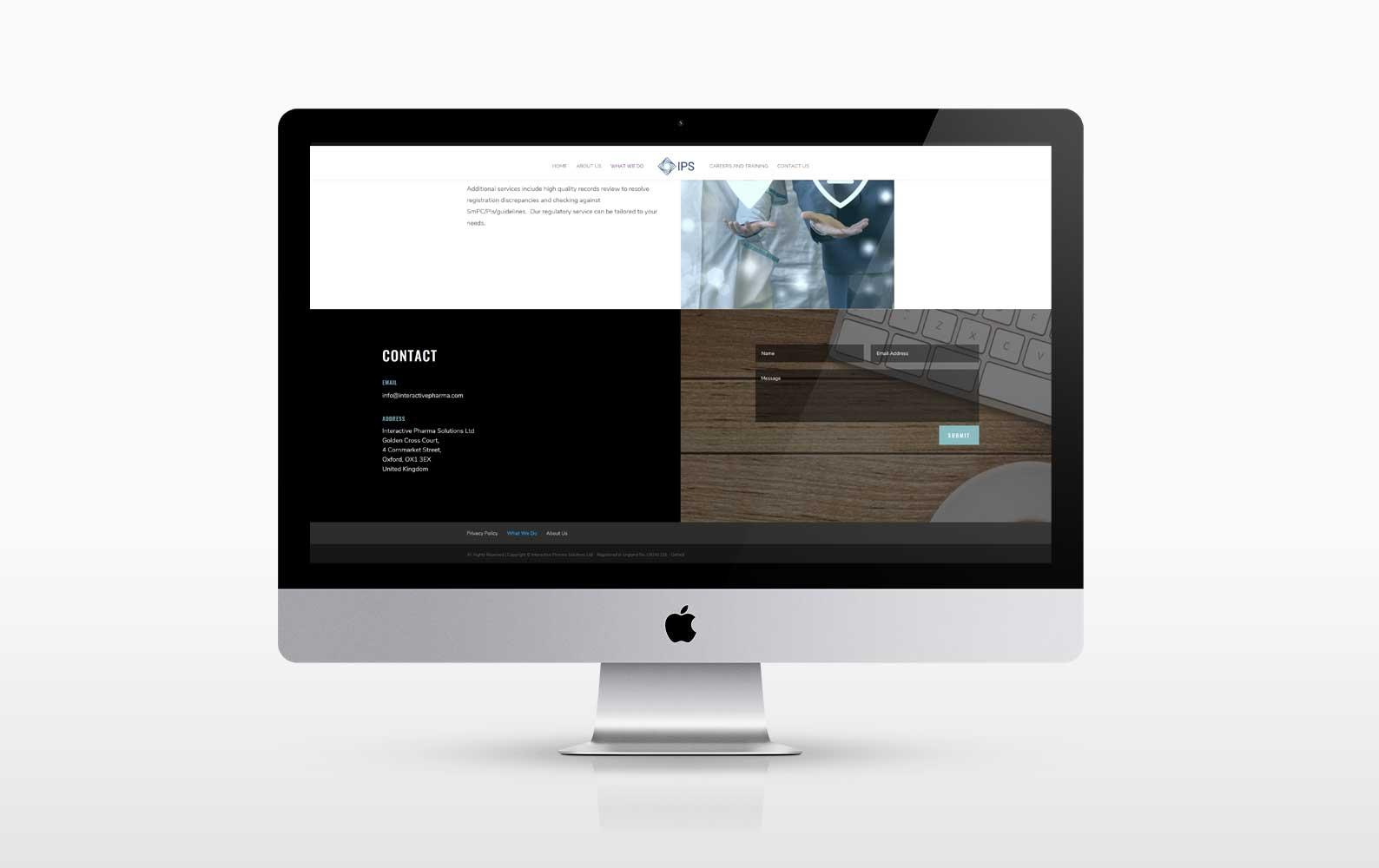 Screen Shot New responsive wordpress website for a pharma company in Oxford