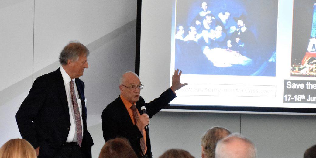Dr J F Uhl and Dr S Tristram showing a 3D slide