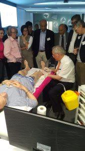 Coleridge Smith demonstrates foam sclerotherapy