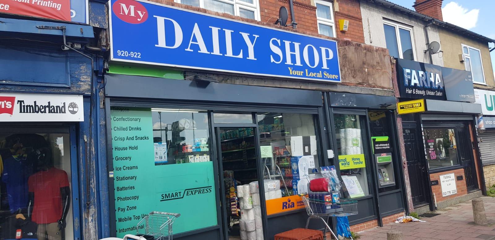 My Daily Shop   Spark Hill   Birmingham