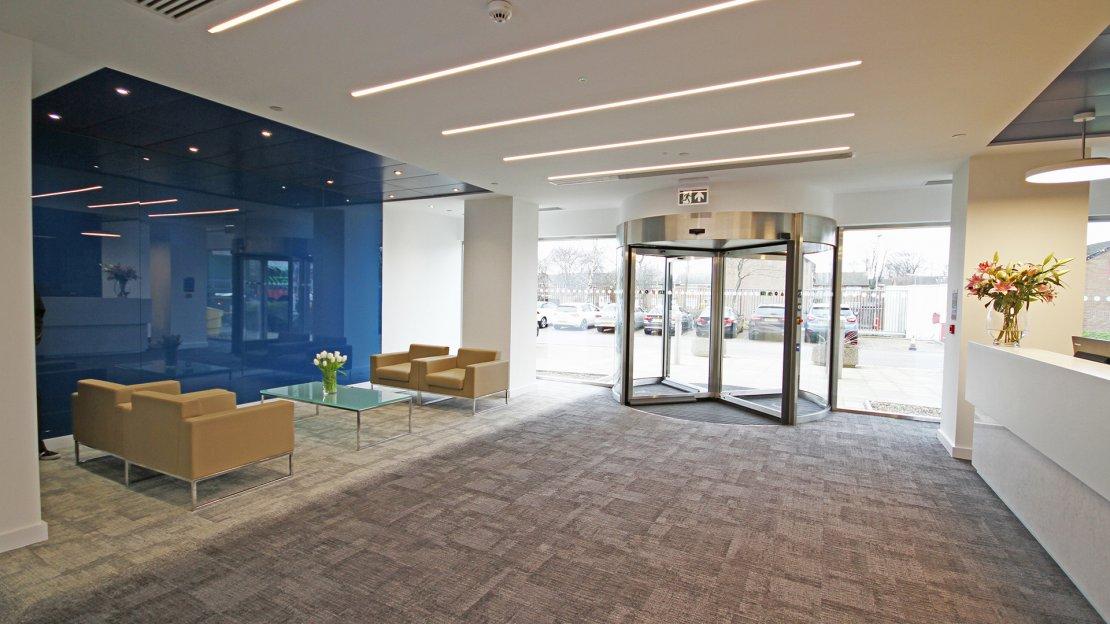 Reception area by Ben Johnson Interiors