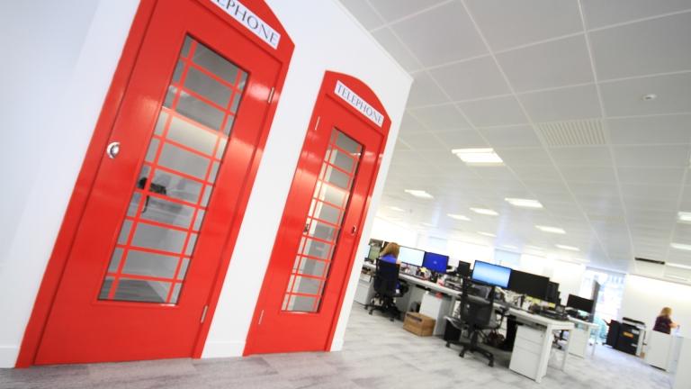 Phone booths in Ashcourt Rowan office