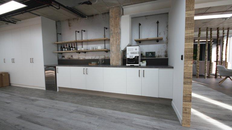 Office kitchen white