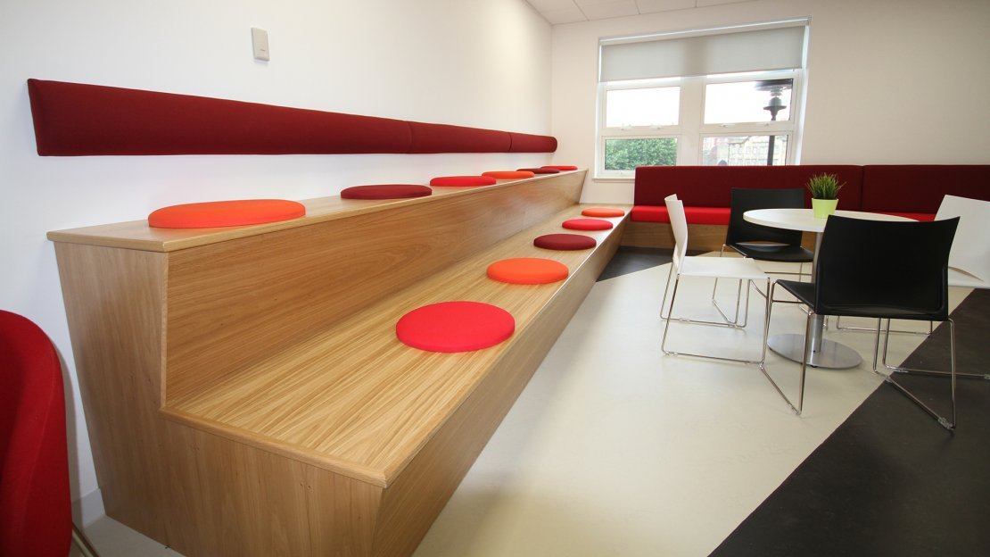 Breakout Area with long seating