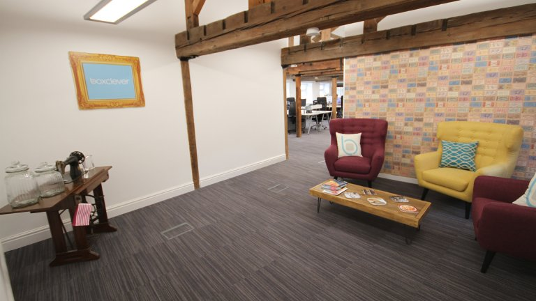 Reception waiting area
