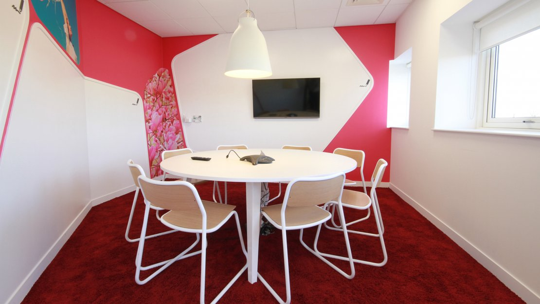 red meeting room
