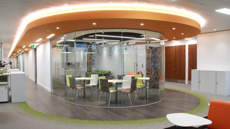 Breakout area in new office