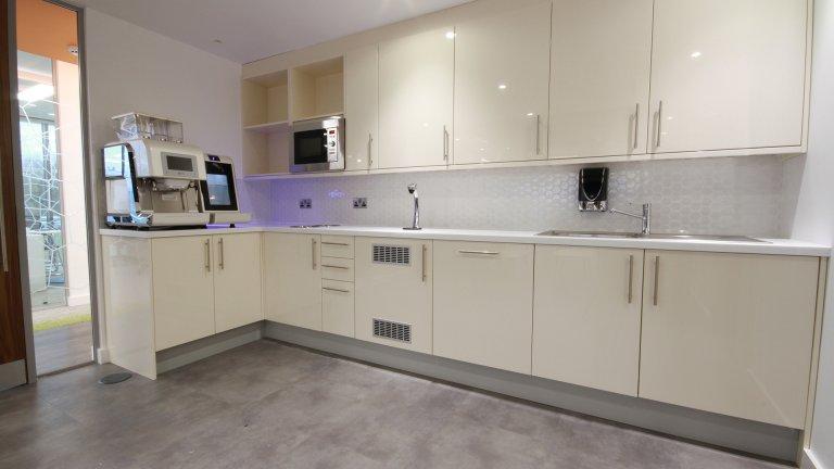 white office kitchen