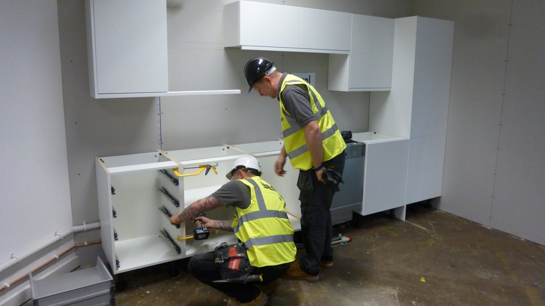 Fitting an office kitchen