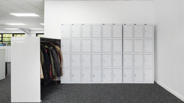 office staff storage lockers
