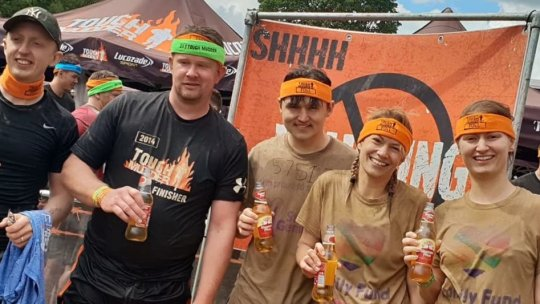 Team Ben Johnson take on Tough Mudder