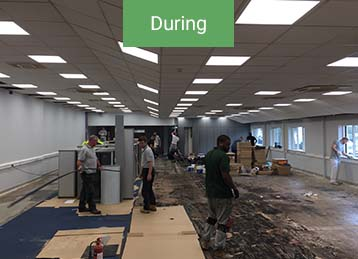 During office refurbishment in Leeds