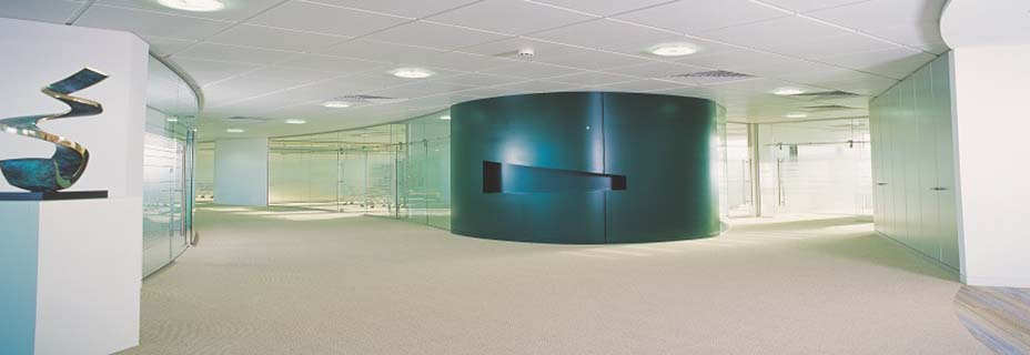 Solid office wall partitioning
