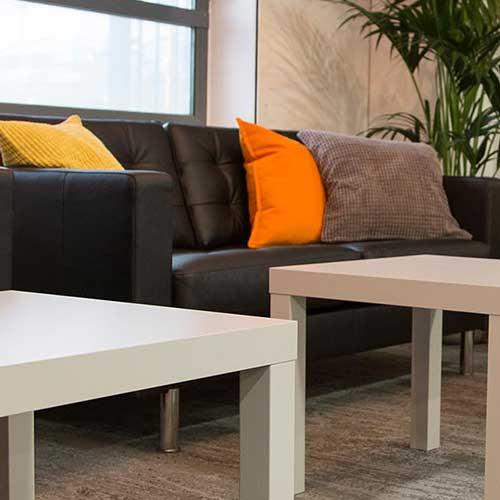 enact brown sofa