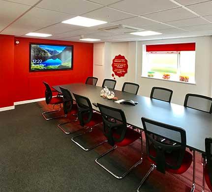 tangerine meeting room