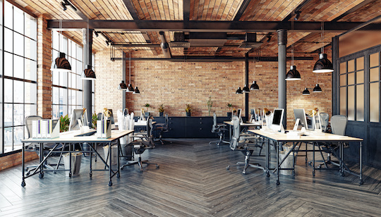rustic style office