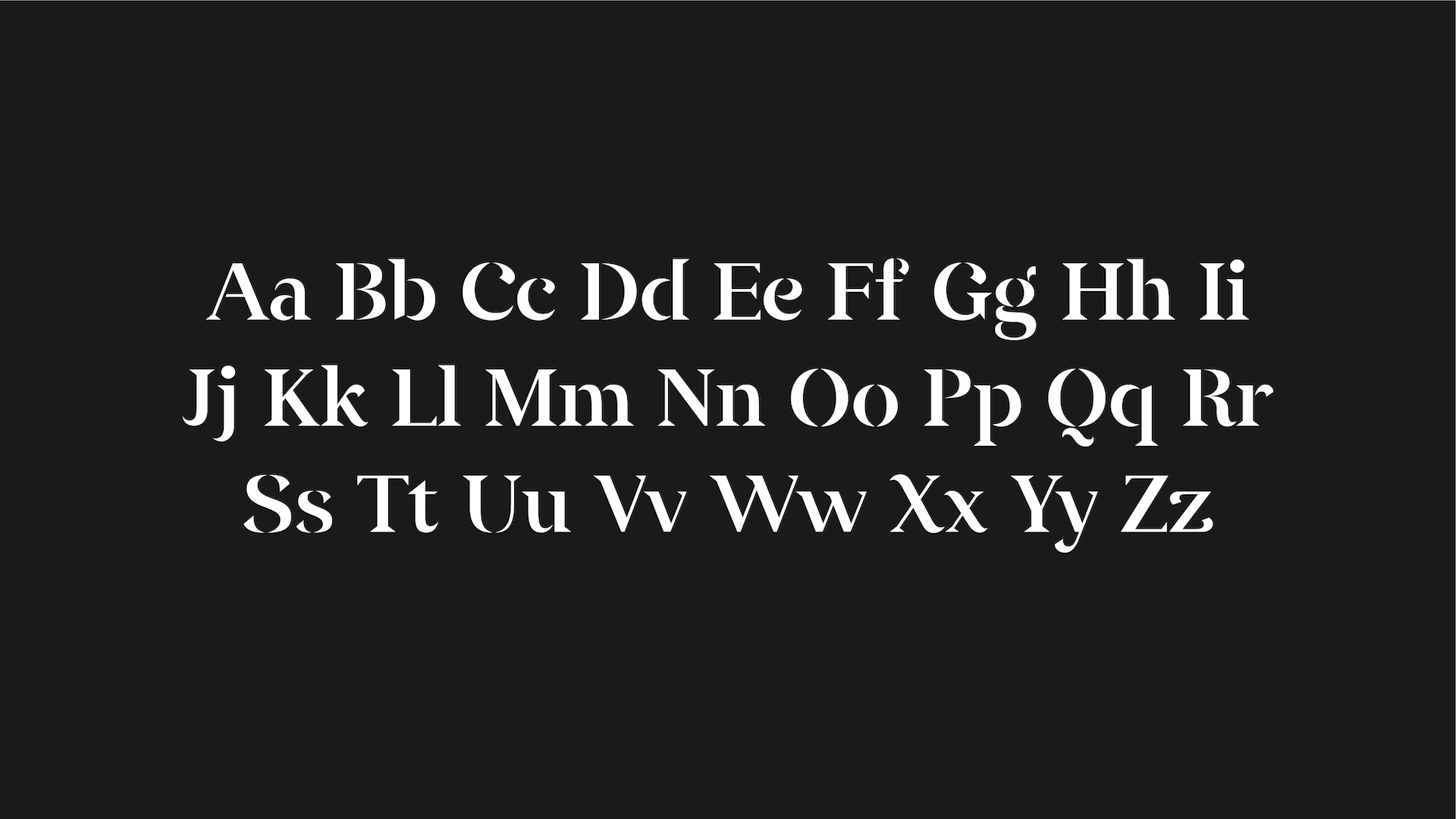 Better font - character set.