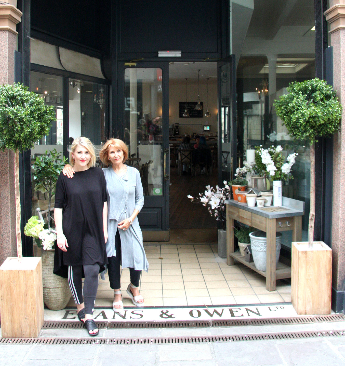 Suzanne Temple and daughter Chloe in the entrance to The Loft in Bath. Inset, one of their room settings in the lifestyle store.
