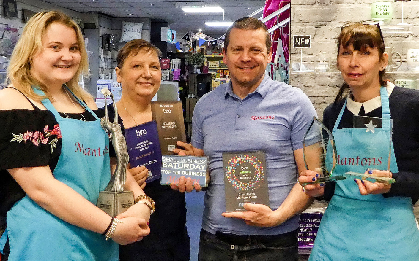success is on the cards for Mantons Cards in Port Erin