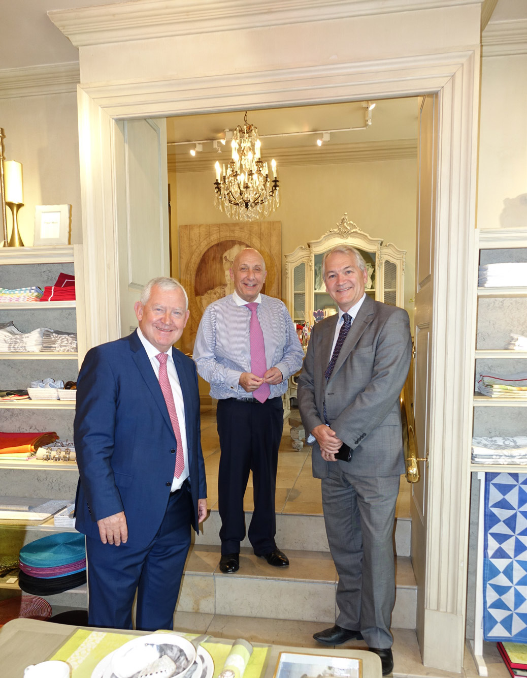 Former bira CEO Alan Hawkins, William Woods of Woods of Harrogate and current bira CEO Andrew Goodacre