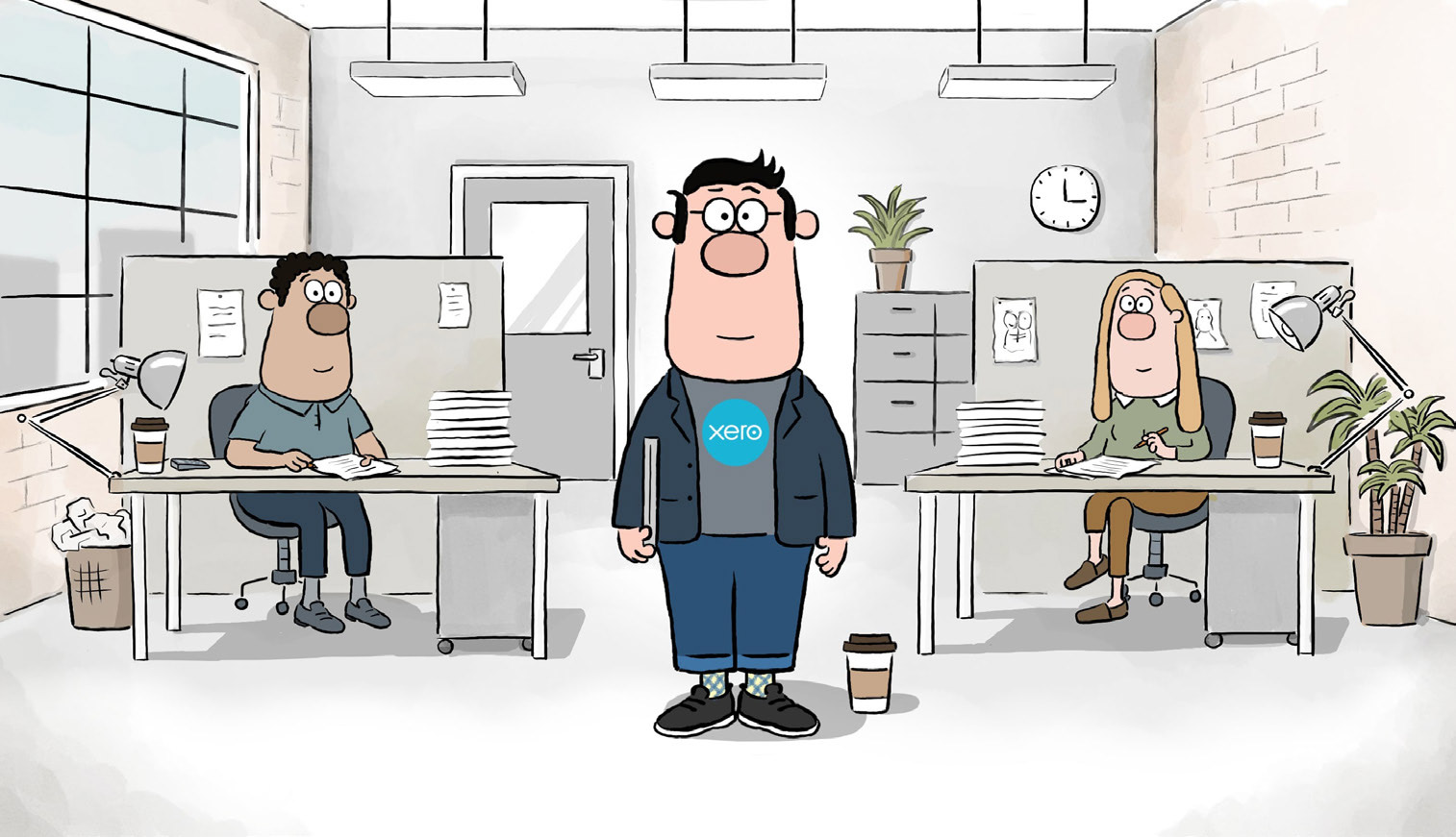 Xero and Making Tax Digital Animated character called Dexter