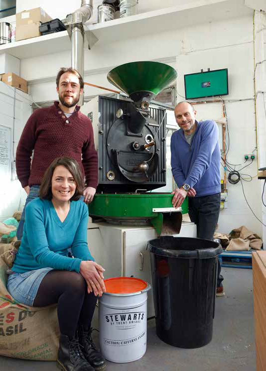 The UK coffee market continues to grow and so artisan roaster Stewarts of Trent Bridge intends to get its share of what's brewing
