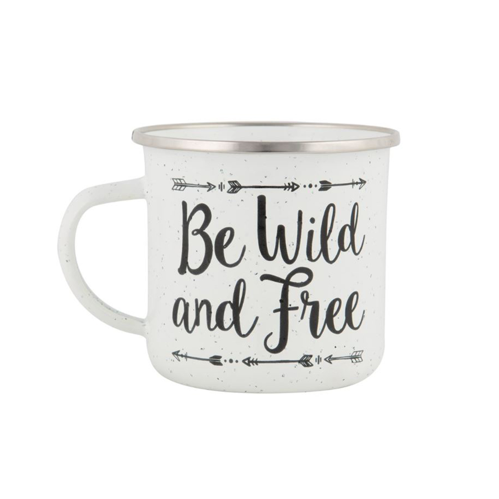 Speckled 'Be Wild & Free mug from Sass & Belle