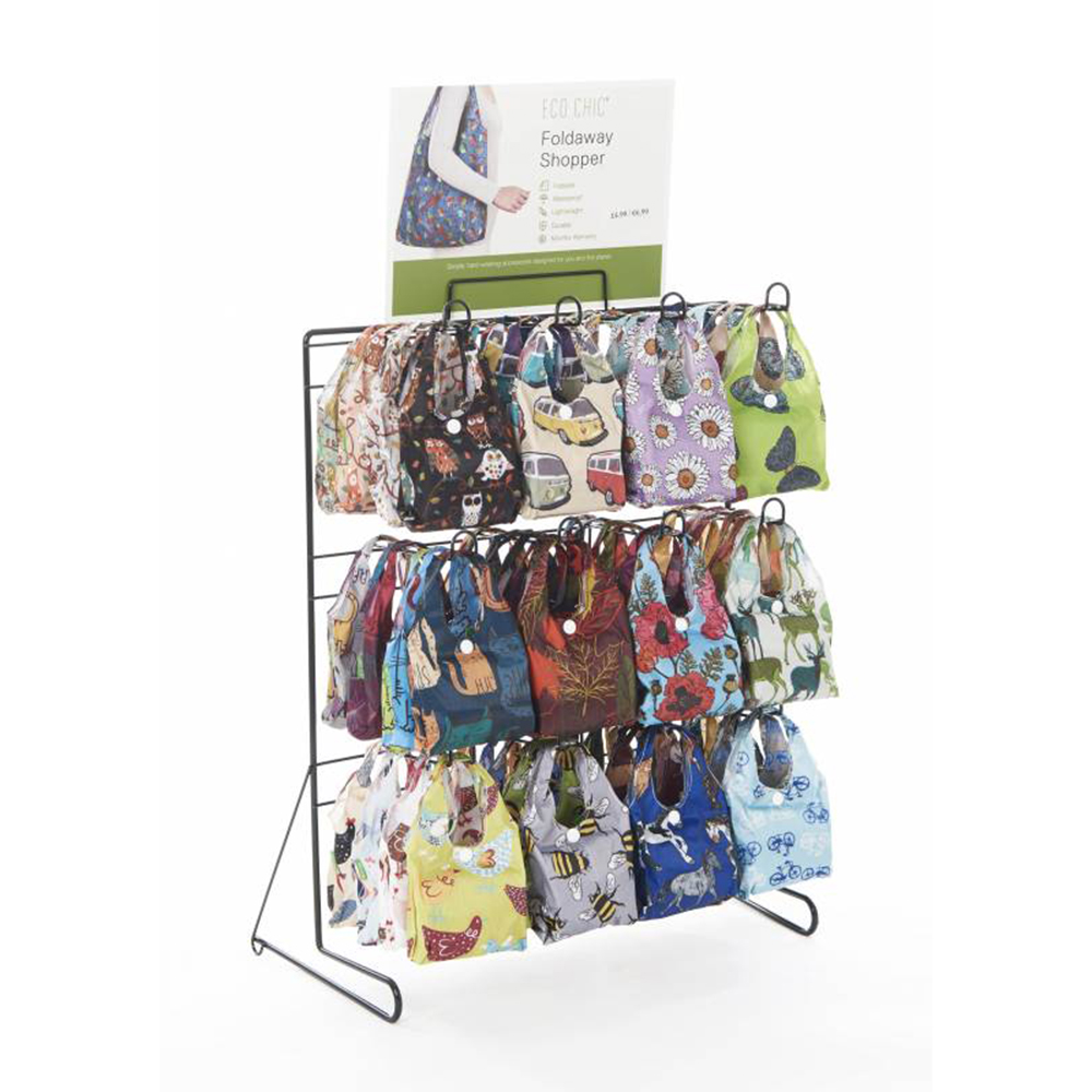 Patterned Shopping Bags CDU from Eco Chic