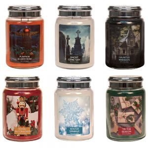 village Candle Halloween Bira Direct