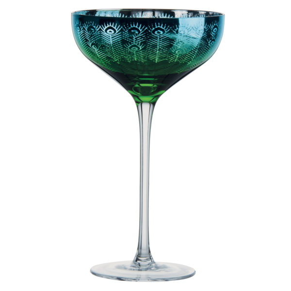 Peacock Champagne Saucer by The DRH Collection
