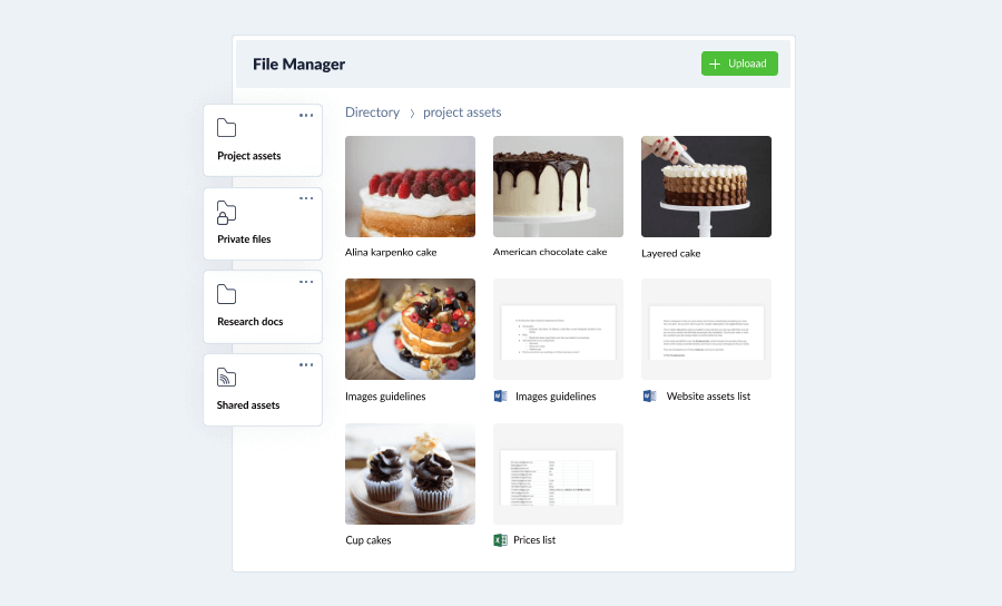 Plutio file management system for freelancers and small business