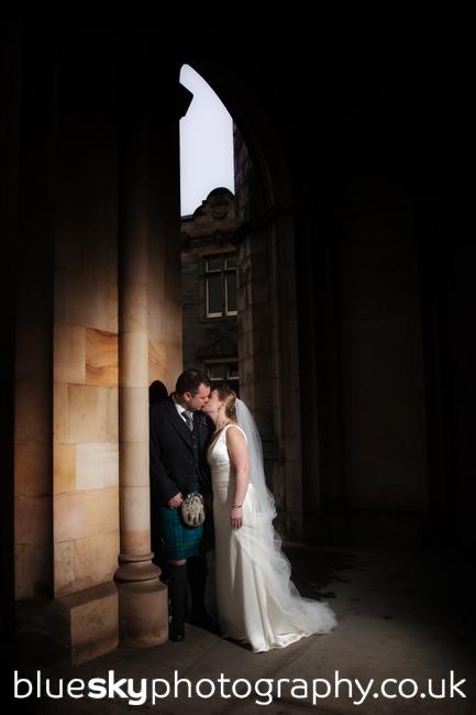 Sarah and Ian at St Salvator's Chapel, St Andrews