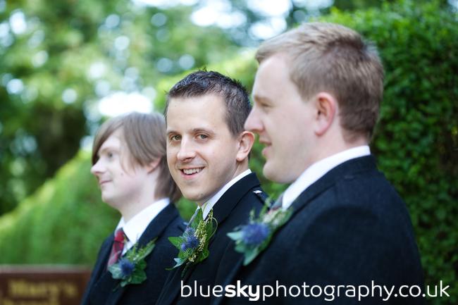 John and his bestmen at Blair's Chapel, Aberdeen