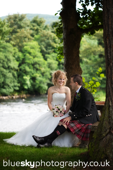 Lizzie & John at the Banchory Lodge Hotel
