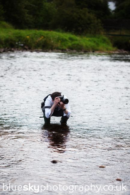 Niels in the River Dee!
